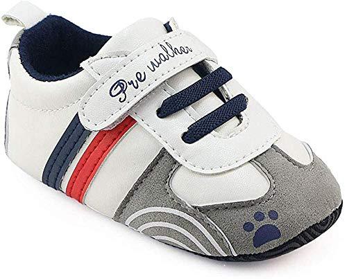 Zapatillas de Deporte Bebé, LANSKIRT Recién Nacido Prewalker Zapatos de Suela Blanda Antideslizante Zapatos con Velcro Zapatos de Cuna