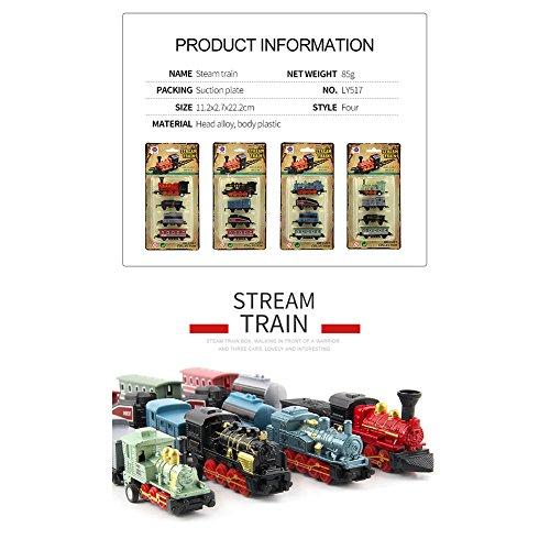 ACHICOO Modellbahn Spielzeug, 4pcs Kinderlegierung Simulation Dampfzug Kreative Mini-Auto Modelle Spielzeug Geschenke für Kinder grün Kinder, Freunde