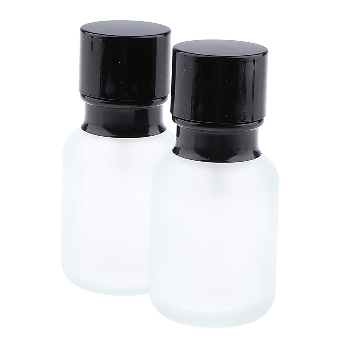 夜ステージ飛行場B Blesiya 2個 化粧ボトル ポンプボトル ローションジャー ガラス コンテナ 2サイズ選べ - 50ミリリットル
