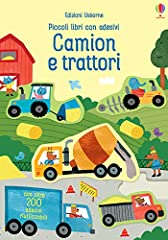 Idea Regalo - Camion e trattori. Piccoli libri con adesivi. Ediz. a colori