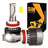 Simdevanma H11/H8/H9 LED Headlight Bulbs Cool White 6000LM 6500K 60W...