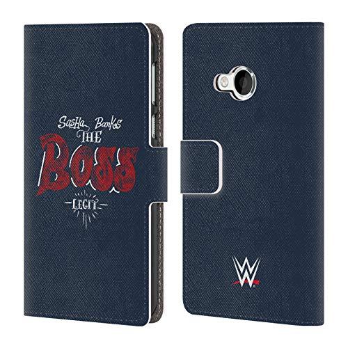 Officiële WWE sasha banken de baas 2018/19 Superstars 5 Lederen Book Portemonnee Cover Compatibel voor HTC U Play/Alpine
