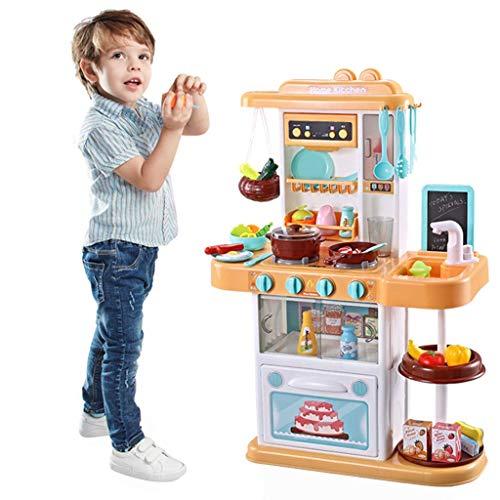 Juego de cocina para niños, juguete de cocina con iluminación y sonido de cocina realistas, así como efectos de aerosol realistas, experiencia real, juego de otros accesorios de cocina para niños pequ