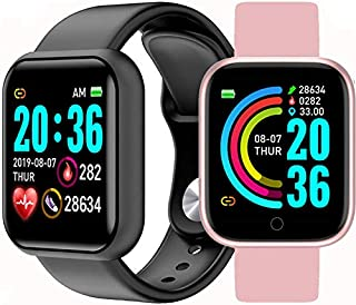 Feiteng Pulsera Inteligente Impermeable Reloj Bluetooth Inteligente Aptitud Reloj Deportivo con el podómetro Monitor de Ritmo cardíaco Cronómetro, IP68 a Prueba de Agua, Unisex