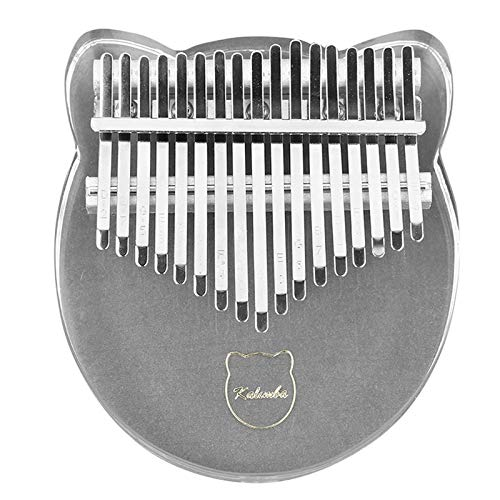 YanYun 17 Tasten Kalimba Acryl Daumen Klavier 17 Tasten Mbira Transparent Tastatur Instrument