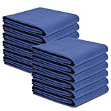 ZENY 12 Moving Blankets Packing Blanket Quilted Shipping Furniture Pads 80''x 72''(35 lb/dz Weight) Moving Supplies,Furniture Protection and Pack Blankets