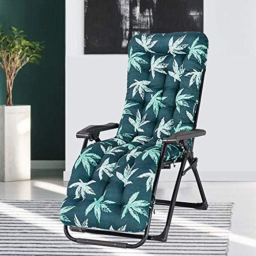 Thick Replacement Garden Recliner Relaxer Chair Cushion Recliner Cushion Sun Lounger Cushion for Indoor Outdoor (cushion only)… (170*53cm, A)