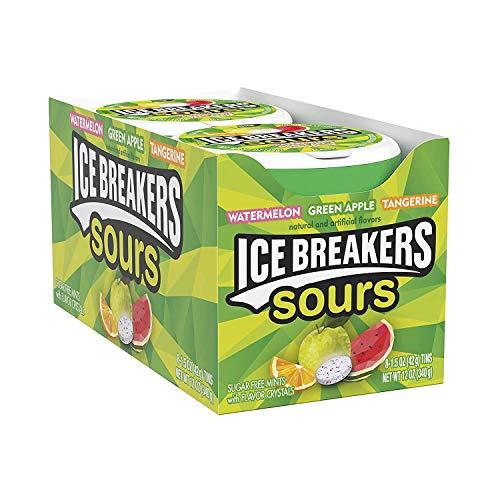 Ice Breakers Sours - Pfefferminz Bonbons, 8 Stück (8 x 42 g)