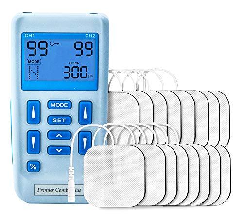 Blanqueamiento dental,Kit de Blanqueamiento Dental Gel, 2 Canales, 16 Electrodos Autoadhesivos Totalmente Recargable Con 30 Programas de Preajuste…