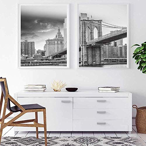 ARTPRIME Láminas Decorativas para enmarcar de paisajes. Pack de Dos láminas para enmarcar de Paisaje emblemático Impresión de Calidad. Papel de 250Gr.(A3)