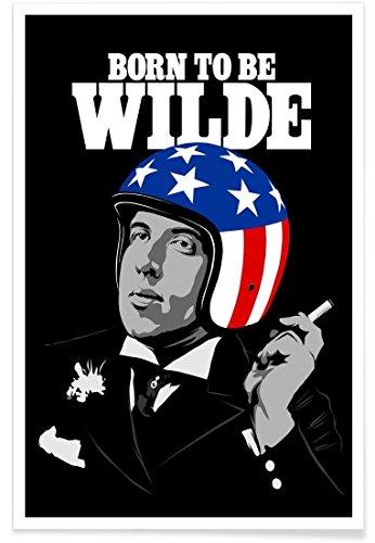 Juniqe® Affiche 80x120cm Pop Art - Design Born to Be Wilde (Format : Portrait) - Poster, Tirages d'art & Tableaux par des Artistes indépendants créé par Butcher Billy