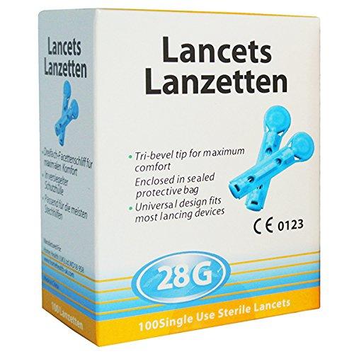 200 Lancetas 28G Universales - Totalmente Compatibles con Autolet/Microlet/Auto Mini/Glucolet/Hemalet/Penlet II/Soft Touch/AutoLancet/BD Lancet...
