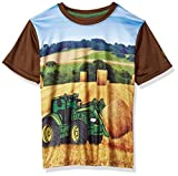 John Deere Boys' Performance Tee Shirt, Brown, 5