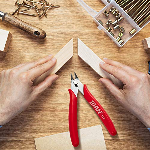 IGAN-170 Wire Cutters, Precision Electronic Flush Cutter, One of the Strongest and Sharpest Side Cutting pliers with an Opening Spring, Ideal for Ultra-fine Cutting Needs.