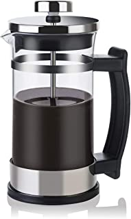 French Pressure Coffee Maker, Stove Espresso Maker, Office/Home Mocha Pot, 304 Stainless Steel, Heat-Resistant Explosion-Proof Glass, 350ml~600ml