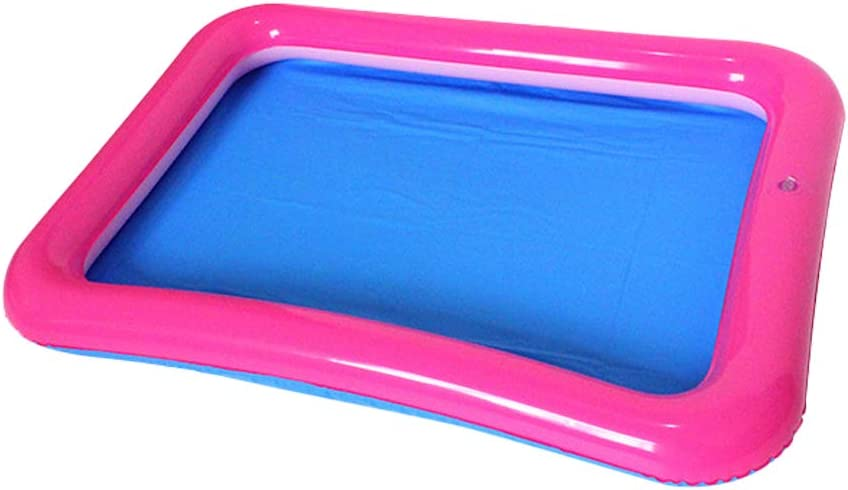 Topwon Inflatable Sand for Kids/Sand Tray/Sand Molds/Inflatable Sand/Portable Sand Tray /Sand Tray Lid (23.6×17.7Inch, Random Color)