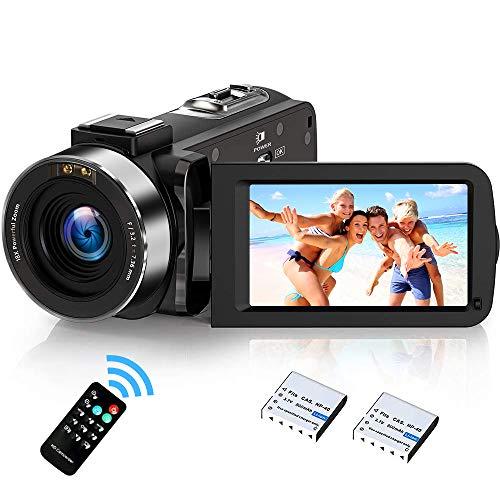 weton Videocámara Digital con visión Nocturna infrarroja, Weton 1080P Full HD cámara de vídeo Digital 24.0 megapíxeles 18X cámara de vídeo Digital Zoom (Dos baterías Incluidas)
