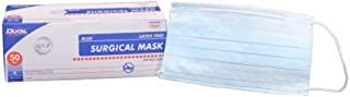 Pack of 300 Non-Sterile Surgical Face Masks with Ties. 3 Ply Blue Lightweight, Breathable Masks. Medical Procedure Mask. Ideal for Clinics, Hospitals, gardening, painting. BFE of >99%.
