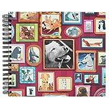Recuerding - Álbum de Fotos Mascotas, para Perros, 50 Páginas (27×24 cm) | Pegar y Escribir, Personalizable, Original, con Hojas Negras, Anillas y Tapa Dura, Producto Solidario | Hecho en España