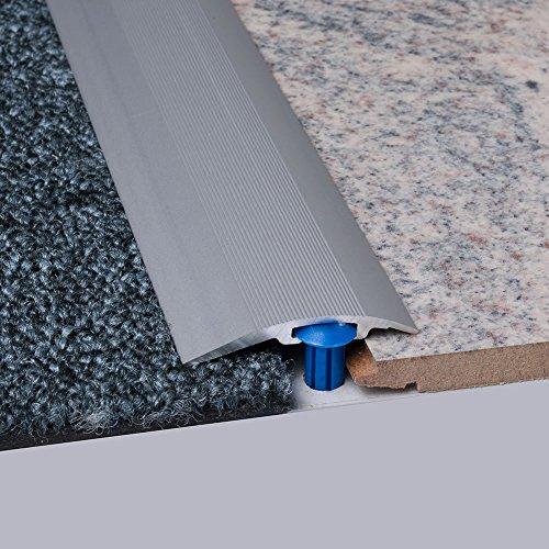 Laminat-Ausgleichsschiene Silber eloxiert 900 mm, für 4 - 14 mm Höhenunterschied