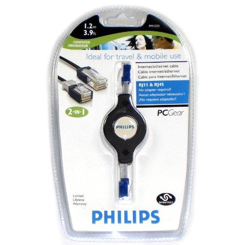 Philips USA Pm1223 - Retractable Rj45/rj11 Slider
