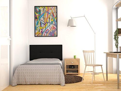 LA WEB DEL COLCHON Cabecero de Cama tapizado Acolchado Juvenil Julie 115 x 55 cms. para Camas de 80,...