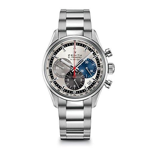 Zenith El Primero Cronografo Automatico Argento Quadrante Uomo 03215040069M2150
