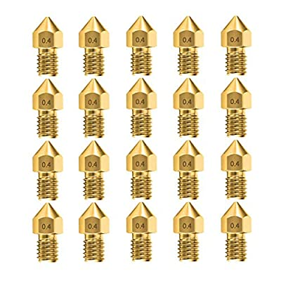 10pcs 0.4mm MK8 Nozzles 3D Printer Extruder Accessories for Creality Ender 3 5 CR-10 10S S4 S5 and so on (10 pcs)