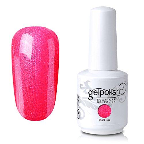neon coral gel polish - 7