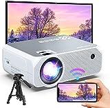 Bomaker Proyector WiFi 6000 Lúmenes Full HD 1080 Resolución Nativa 720P Inalámbrico Mini Cine en Casa Portátil, Pantalla de 300 Pulgadas, HDMI/USB/VGA/AV/Micro SD, GC355 (Blanco-3)