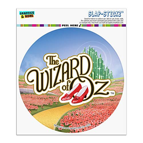 Graphics and More The Wizard of Oz Ruby Slippers Logo Automotive Car Window Locker Circle Bumper Sticker
