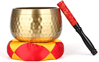 ZLYMX Temple Buddha Bowl Singing Mats and Forward's Yellow Bowl Household Buddhist Items (Size : 8inches)