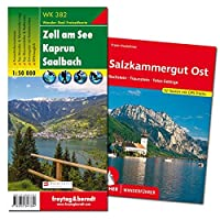 Salzkammergut Wanderungen-Set, Wanderfuehrer + Wanderkarte 1:50.000, in praktischer Umhaengetasche