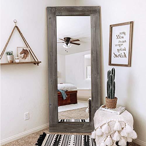 Trvone Full Length Dressing Mirror Wood Floor Mirror Solid...