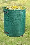 ANDYLV, sacco per rifiuti da giardino, 300 l, tessuto in polipropilene, 150 g/m², extra robusto, impermeabile e antistrappo, contenitore perfetto per foglie, spazzatura, rifiuti verdi, compost (1)