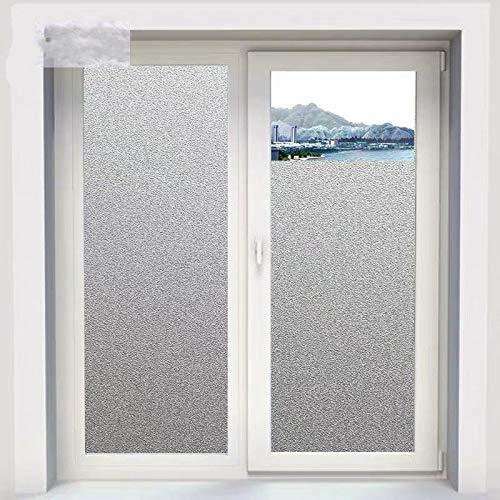 N / A Bürofensterfolie mattierte Privatsphäre mattierter Glasaufkleber elektrostatisch mattierte Selbstklebende PVC-Badezimmer-Besprechungsraumtür Hauptdekorationsfolie A1660x200cm