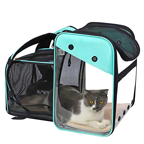 WOSHUAI Cat Carrier Dog Backpack Expandable Pet Carrier Backpack Portable Cat Carrier Bag with Mesh Window, Outdoor Travel Camping Hiking