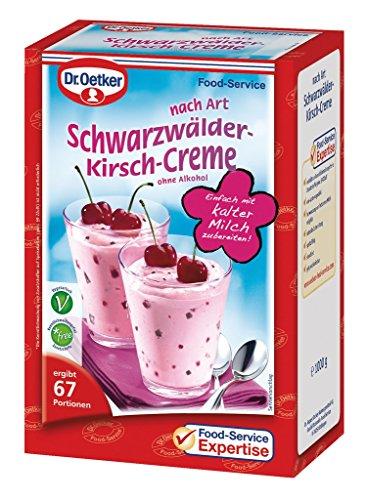 Dr. Oetker Professional Dessertcreme nach Art Schwarzwälder-Kirsch, Dessertpulver in 1 kg Packung