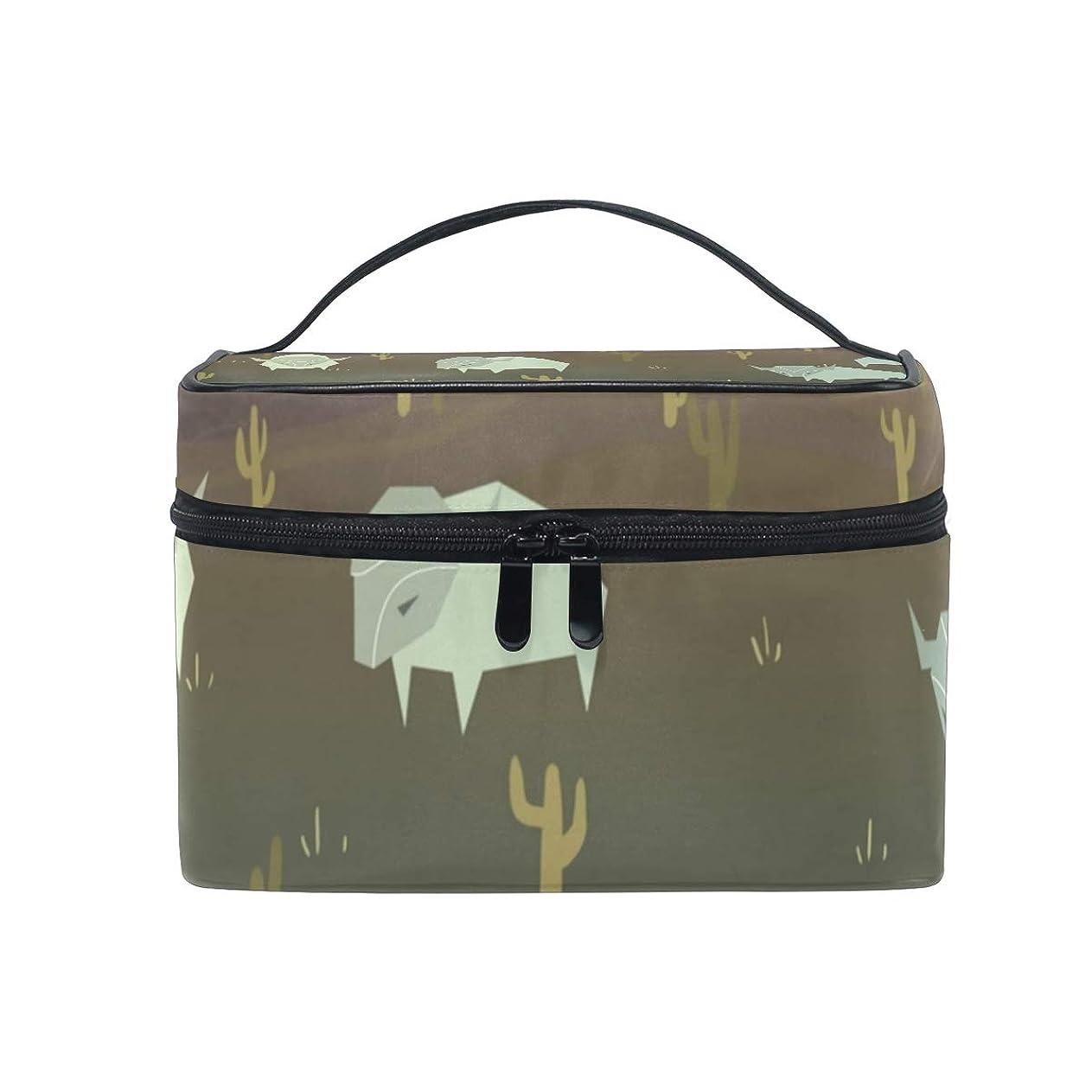 製造兄支援するメイクボックス 野牛柄 化粧ポーチ 化粧品 化粧道具 小物入れ メイクブラシバッグ 大容量 旅行用 収納ケース