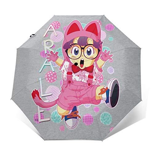 Arale Norimaki Katzen-Maglia Dr Slump Winddichter kompakter Automatischer Faltschirm zum Öffnen und Schließen