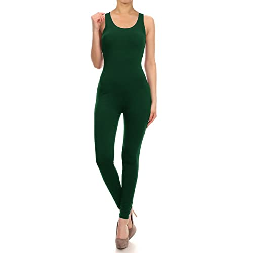 5d2de5cd Leggings Depot Premium Quality Jersey Tank Unitard Jumpsuit Romper Gym