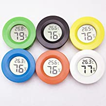 YMCHE Sonda digital LCD de temperatura para mascotas medidor de humedad redondo sensor higrómetro medidor