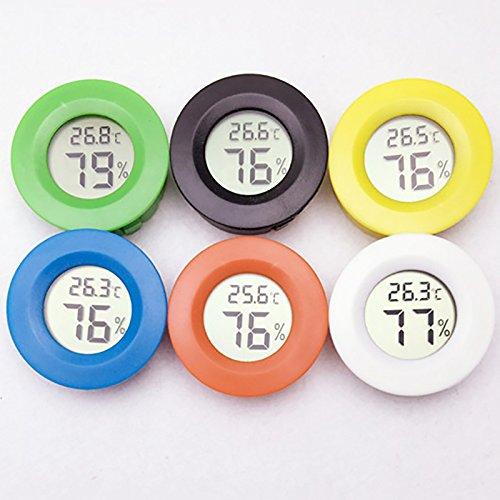 Digitale lcd-thermometer, hygrometer, luchtvochtigheid, temperatuur, thermometer, voor huisdieren, reptielen, meting van het vochtgehalte (willekeurige kleuren).