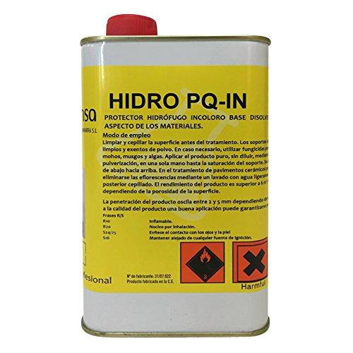 Hidrófugo incoloro base disolvente. Protector contra el agua en fachadas y materiales de construcción.Envase 1 Litro.