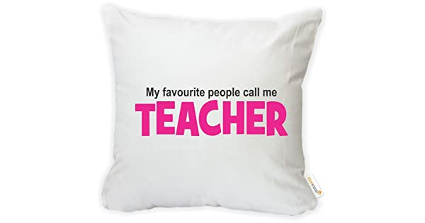 Insert Included Rikki Knight 16 x 16 inch Rikki KnightMy Favourite People Call Me Teacher Microfiber Throw Pillow Cushion Square with Hidden Zipper Printed in The USA
