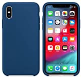 Mcart's Silicon Back Case Cover for Apple iPhone X-10/ iPhone Xs - Ocean Blue
