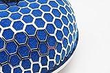 Autobahn88 Universal seta alto flujo de aire filtro de entrada, entrada de 3 pulgadas (76 mm), libre de aceite, Azul