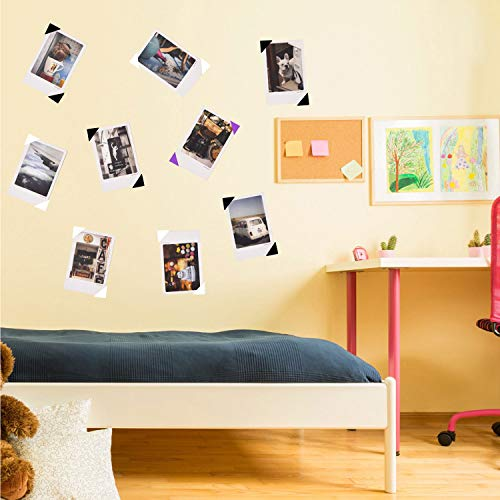 Bememo 2040 Pieces Photo Corners Self Adhesive for Scrapbook Picture Album (Black and White)