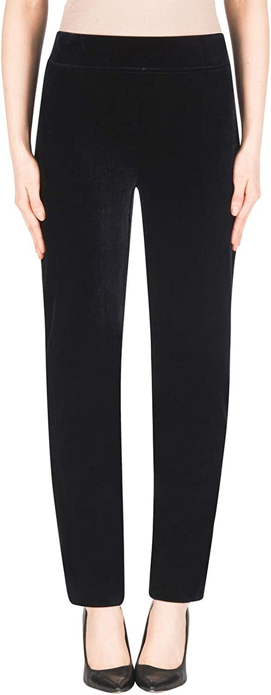 Joseph Ribkoff  183453 Woman's Black Velvet Pant