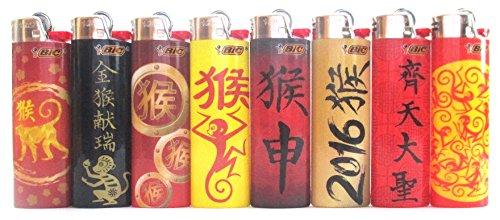 BIC Asian Series Monkey Feuerzeuge, 8 Stück
